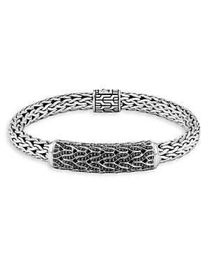 John Hardy Sterling Silver Classic Black Sapphire & Black Spinel Woven Link Bracelet-Jewelry & Accessories