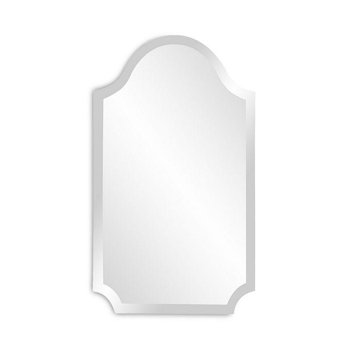 Howard Elliott - Frameless Arched Scalloped Mirror
