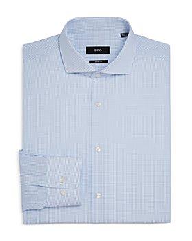 BOSS - Mark US Cotton Micro Dot Sharp Fit Dress Shirt