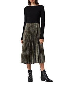 ALLSAINTS - Lera 2-in-1 Slip Dress