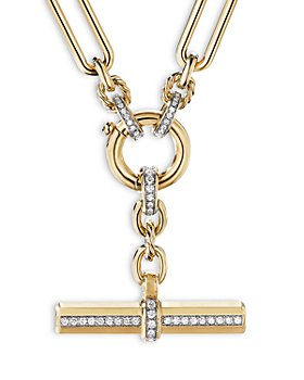 David Yurman - Lexington Chain Necklace in 18K Yellow Gold with Diamonds, 18""