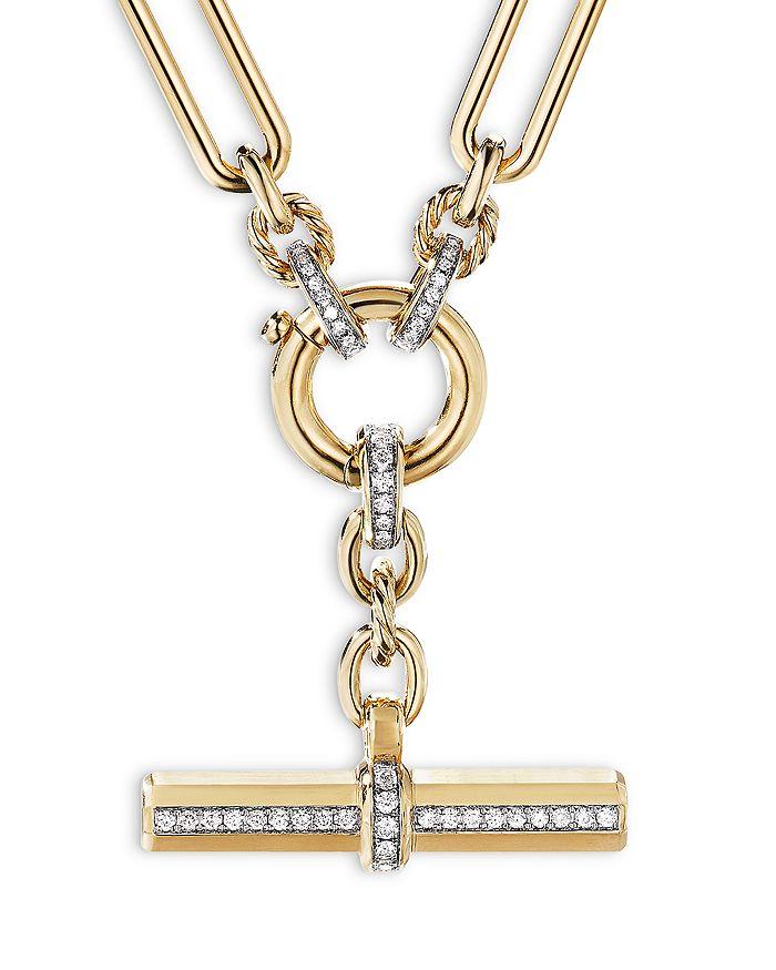 "David Yurman - Lexington Chain Necklace in 18K Yellow Gold with Diamonds, 18"""