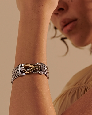 John Hardy 18K Yellow Gold & Sterling Silver Classic Multi Row Statement Bracelet-Jewelry & Accessories
