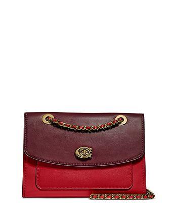 COACH - Parker Small Leather Shoulder Bag