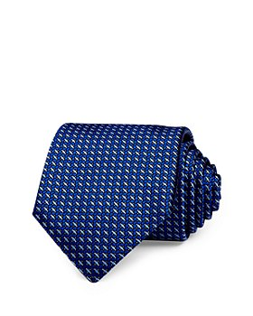 Canali - Contrasting Grid Silk Classic Necktie