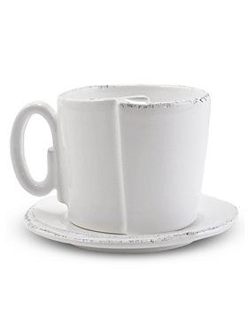 VIETRI - Lastra White Cup & Saucer