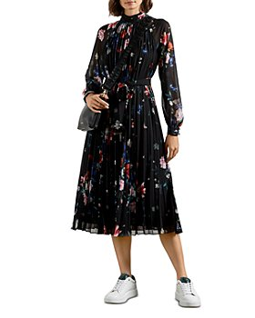 Ted Baker - Naniro Sandalwood Pleated Midi Dress