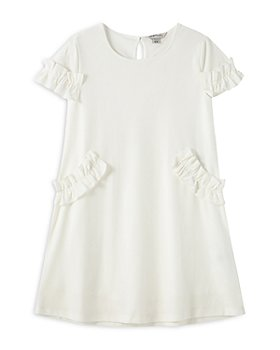 Habitual Kids - Girls' Marilyn Ruffled Velour Dress - Little Kid