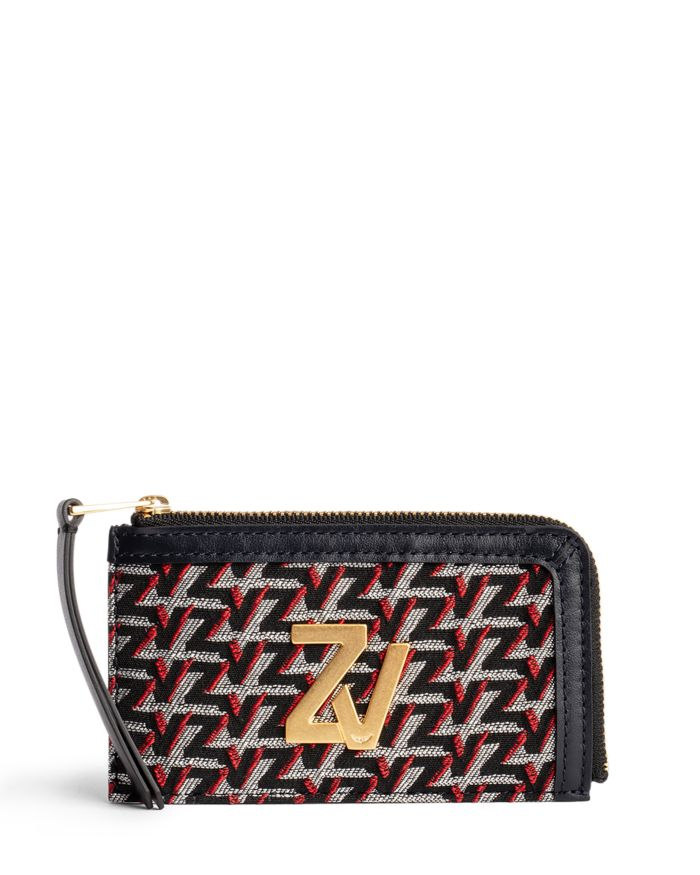 Zadig & Voltaire ZV Initiale Medium Monogram Zip Around Wallet  | Bloomingdale's