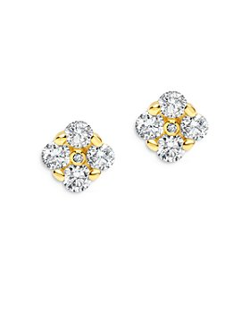 Bloomingdale's - Diamond Cluster Stud Earrings in 14K Yellow Gold, 0.85 ct. t.w. - 100% Exclusive