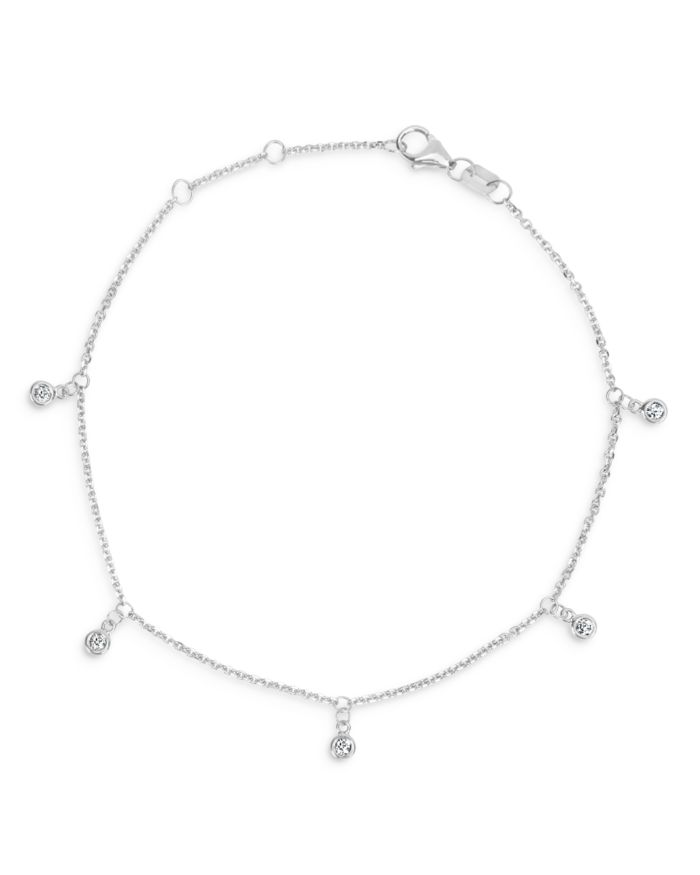 Bloomingdale's Diamond 5-Stone Droplet Bracelet in 14K White Gold, 0.10 ct. t.w - 100% Exclusive  | Bloomingdale's