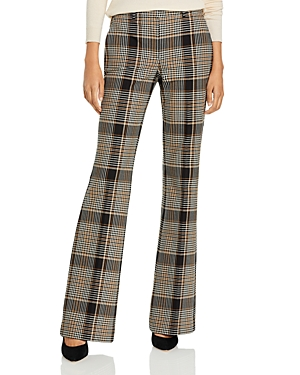 Theory Demitria Plaid Flare Leg Pants