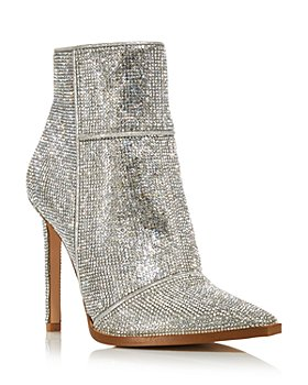 AQUA - Women's Valry Snip Toe Rhinestone Stretch High Heel Booties - 100% Exclusive