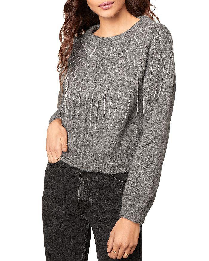 BB DAKOTA - If You Fancy Embellished Fringed Sweater