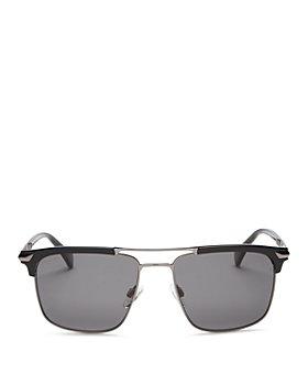rag & bone - Men's Polarized Brow Bar Square Sunglasses, 55MM