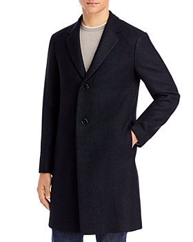 Theory - Suffolk B Donegal Fleck Melton Topcoat - 100% Exclusive