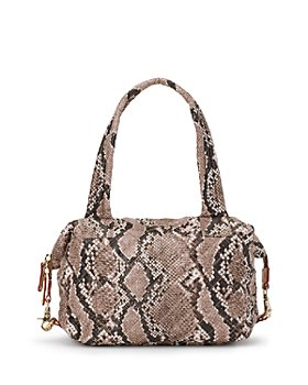 MZ WALLACE - Brown Snake Print Medium Sutton Bag