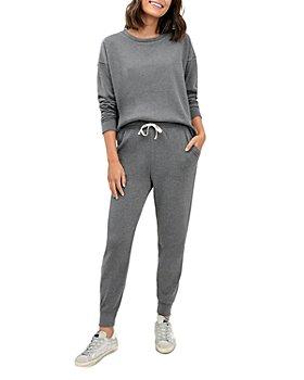 Splendid - Eco Crewneck Sweatshirt & Eco Drawstring Cropped Sweatpants