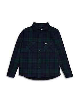 Lacoste - Boys' Flannel Shirt - Little Kid, Big Kid