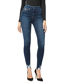 Good American - Good Waist Distressed Skinny Jeans in Blue309