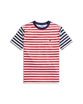 Ralph Lauren - Boys' Color Blocked Striped Cotton Tee - Big Kid