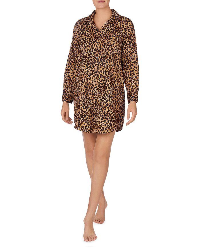 Ralph Lauren - Leopard Print Cotton Sleep Shirt