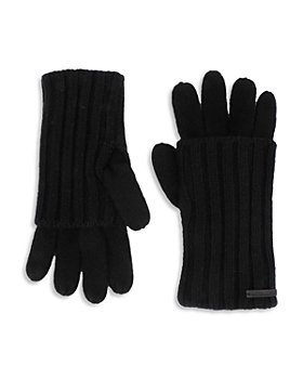 ALLSAINTS - Solid Rib Cuff Wool Gloves