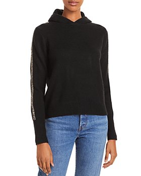AQUA - Embellished Fringe Hooded Sweatshirt
