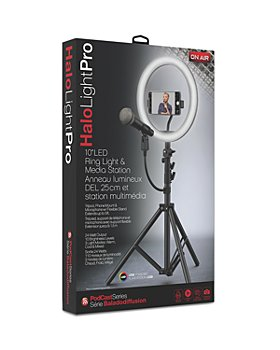 "Tzumi - On Air HaloLight Pro 10"" LED Ring Light with Large Tripod Floor Stand"