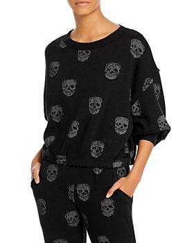 Vintage Havana - Skull Print Sweatshirt
