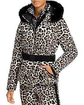 GOLDBERGH - Wild Leopard Print Hooded Down Jacket