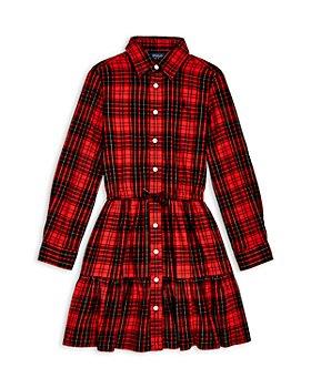 Ralph Lauren - Girls' Plaid Twill Shirt Dress - Little Kid, Big Kid