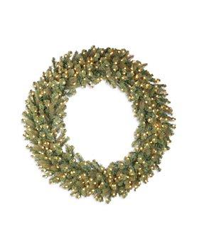 "National Tree Company - 48"" Douglas Fir Wreath with 200 Warm White Lights"