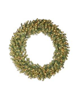 "National Tree Company - 60"" Douglas Fir Wreath with 300 Warm White Lights"