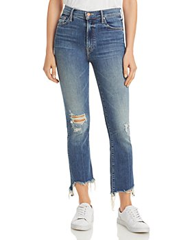 MOTHER - The Insider Cropped Step Hem Jeans in Dancing On Coals