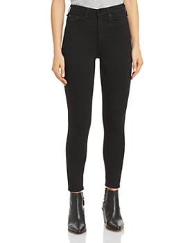 rag & bone - Nina High-Rise Skinny Jeans in Black