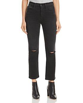 FRAME - Le High Straight Leg Jeans in Maverick Rips