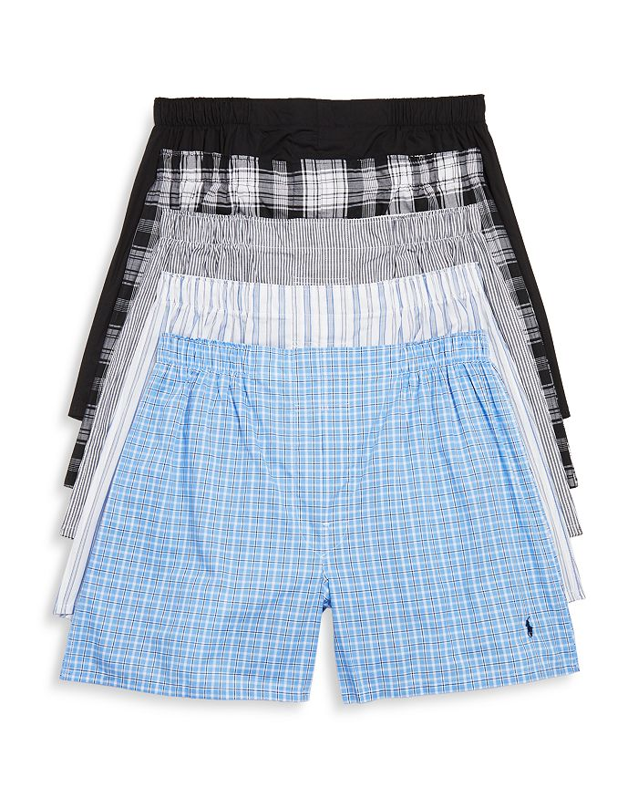 Polo Ralph Lauren - Woven Boxers, Pack of 5