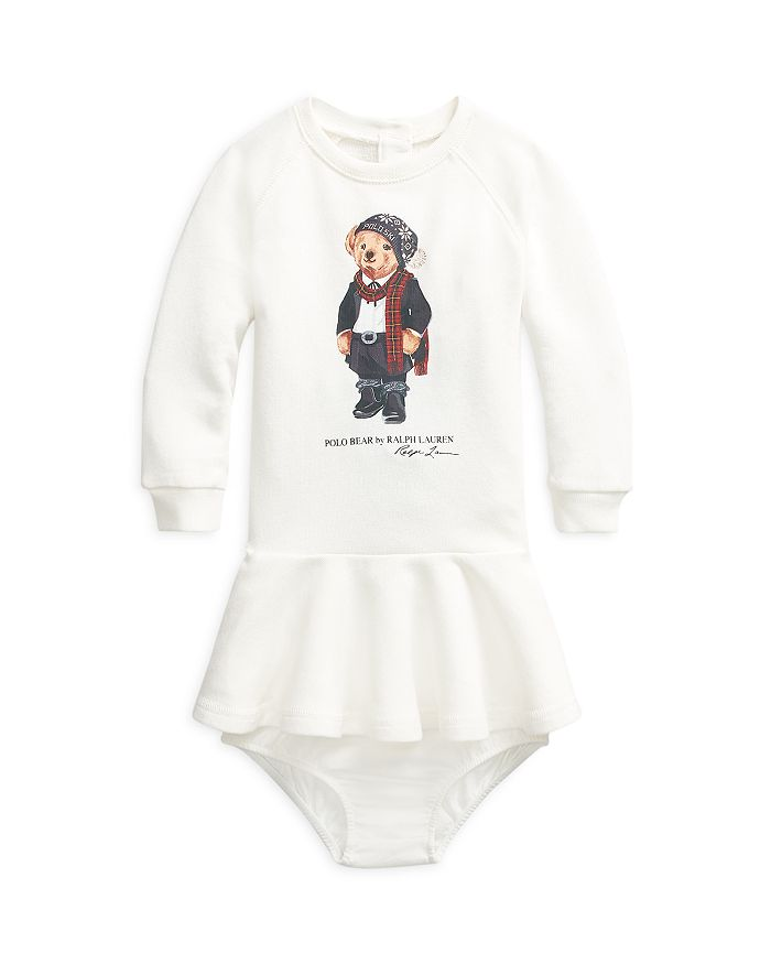 Ralph Lauren - Girls' Bear French Terry Dress - Baby