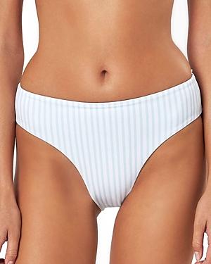 Charlie Holiday Tally Striped Bikini Bottom