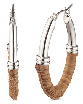 Ralph Lauren - Raffia-Wrapped Hoop Earrings