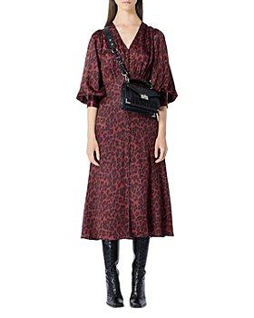The Kooples - Leopard Print Midi Dress
