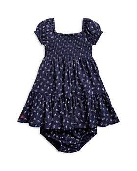 Ralph Lauren - Girls' Floral Print Cotton Dress - Baby