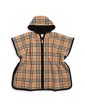 Burberry - Girls' Vintage Check Hooded Wool Cape - Big Kid