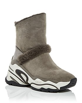 Ash - Women's Blake Shearling High Top Sneaker Booties