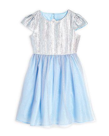 US Angels - Girls' Cap Sleeve Brocade Dress - Little Kid