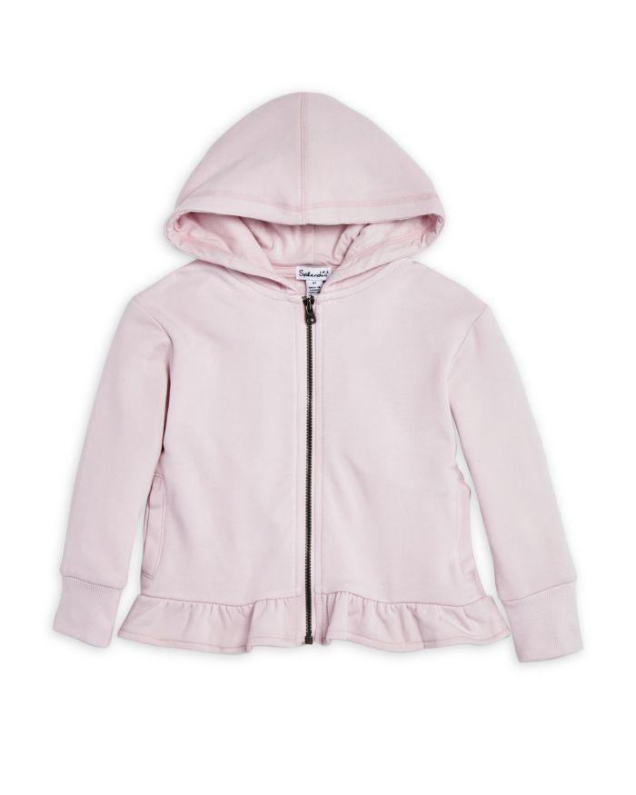 Splendid Girls' Ruffle Hem Zip Hoodie, Little Kid - 100% Exclusive  | Bloomingdale's