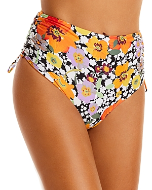 L*Space Teri Printed High Waist Bikini Bottom