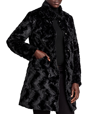 Via Spiga Reversible Crushed Faux Fur Coat-Women