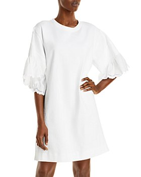 See by Chloé - Eyelet Elbow Sleeve Dress